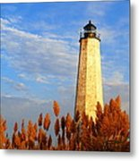 Fall Morning At Lighthouse Point Metal Print