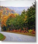 Fall On Fox Hollow Road Metal Print