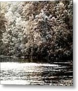Fall On The Current Metal Print