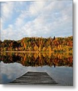Fall On The Lake Metal Print