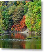 Fall Painting Metal Print by Frozen in Time Fine Art Photography