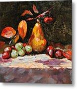 Fall Pear Metal Print by Ellen Howell