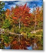 Fall Reflections In Maine Img 6312 Metal Print