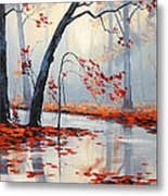 Fall River Painting Metal Print