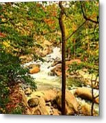 Fall River Running Metal Print
