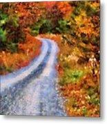 Fall Road To Paradise Metal Print
