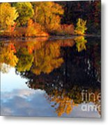 Fall Scene Metal Print by Olivier Le Queinec
