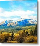 Fall Season In The Sierras Metal Print by Don Bendickson
