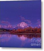 Fall Sunrise Grand Tetons National Park Wyoming Metal Print
