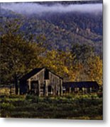 Fall Sunrise Old Barn At 21/43 Intersection Metal Print