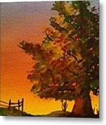 Fall Sunset Metal Print