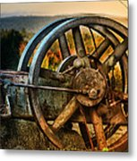 Fall Through The Wheels Metal Print