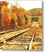 Fall Tracks Metal Print by Stephanie Grooms