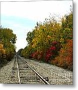 Fall Tracks Metal Print