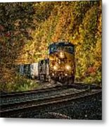 Fall Train Metal Print