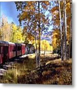 Fall Train Ride New Mexico Metal Print