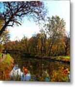 Fall Water Reflections Metal Print