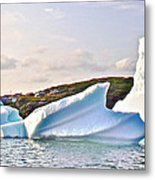 Fallen Clouds Icebergs In Saint Anthony Bay-newfoundland-canada  Metal Print