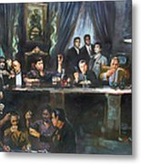Fallen Last Supper Bad Guys Metal Print by Ylli Haruni