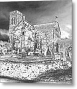 Fallen Night At Dunlop Kirk Metal Print