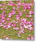 Fallen Rhododendron Metal Print