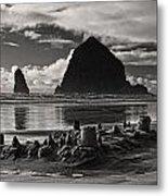 Fallen Sand Castles Metal Print