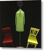 Falling Chairs Metal Print