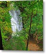 Falling Foss Waterfall In North York Moors National Park Metal Print