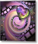 Falling In Love - Valentine Card / Poster Metal Print by Roger Snyder