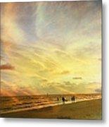 Falling Sky Siesta Key II Metal Print by Alison Maddex
