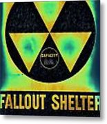 Fallout Shelter Abstract 2 Metal Print
