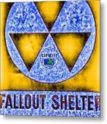Fallout Shelter Abstract 4 Metal Print