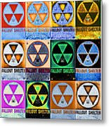 Fallout Shelter Mosaic Metal Print
