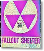 Fallout Shelter Wall 6 Metal Print