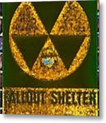 Fallout Shelter Wall 9 Metal Print