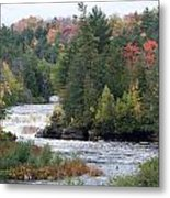 Falls And Color Metal Print