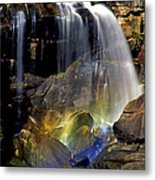 Falls And Rainbow Metal Print