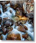 Falls And Rocks Metal Print