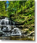 Falls And Steps Metal Print
