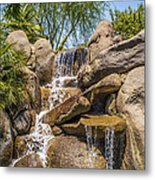Falls At Jackalope Ranch Metal Print