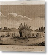 Falls Of St. Anthony, 1821, Narrative Journal Of Travels Metal Print