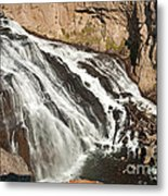 Falls On The Gibbon River In Yellowstone National Park Metal Print