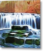 Falls Panorama-features In Groups Rivers Streams And Waterfalls-visions Of The Night Metal Print