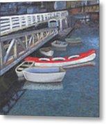 False Creek Ferry Landing Metal Print by Brenda Salamone