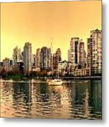 False Creek Triptych Centre Panel Metal Print