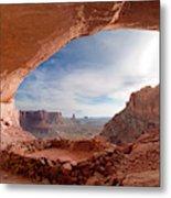 False Kiva In Canyonlands National Metal Print