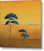 Famboyanes Azules Metal Print