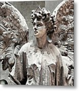 Famiglia Cavaliere Del Francesco Canti Memorial Marker Detail IIi Monumental Cemetery Metal Print