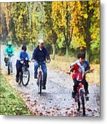 Family Bike Ride Metal Print