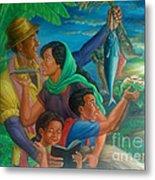 Family Bonding In Bicol Metal Print